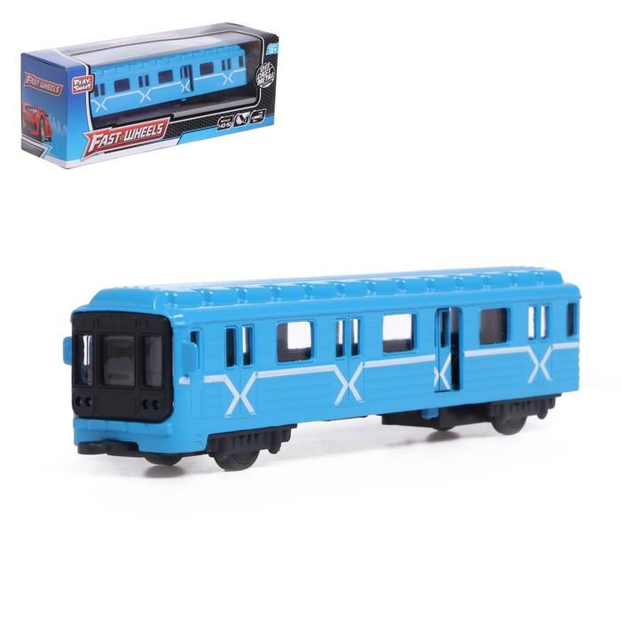 Поезд металлический «Метро», масштаб 1:43, инерция, МИКС