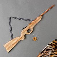 Игрушка деревянная стреляет резинками «Ружьё» 2×68×8 см