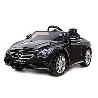 Электромобиль MERCEDES-BENZ S63 AMG, цвет чёрный, EVA колёса, кожаное сидение