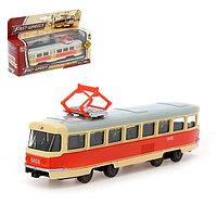 Трамвай металлический «Город», 1:87, инерция