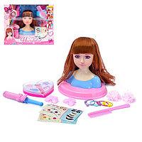 Кукла-манекен для создания причёсок «Стилист» с аксессуарами, МИКС