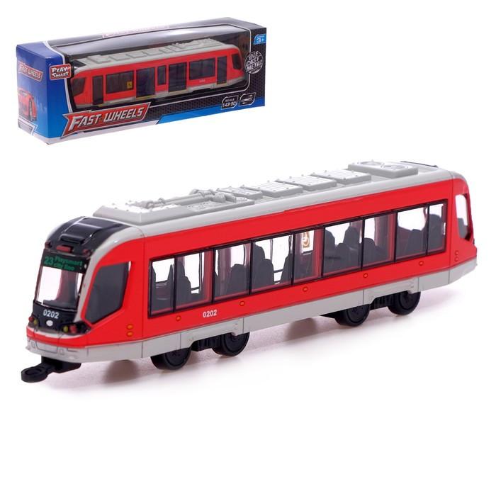 Трамвай металлический «Город», масштаб 1:43, инерция, МИКС