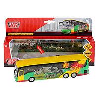 Машина металлическая инерционная «Автобус» 18,5 см, световые и звуковые эффекты, открываются двери, фото 1