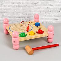 """Игрушка из дерева """"Логический столик"""" 12х26х26 см, фото 1"""