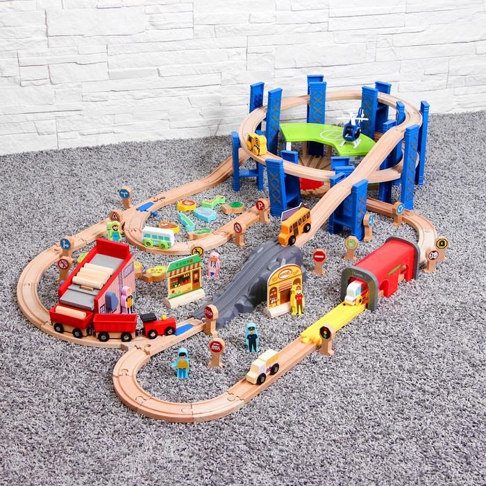Железная дорога 98 деталей 120х70 см