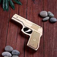 Сувенир деревянный пистолет резинкострел, стреляет резинками