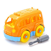Конструктор-транспорт «Автобус малый», 15 элементов (в пакете)