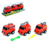 Конструктор винтовой «Пожарный транспорт», набор 3 шт.