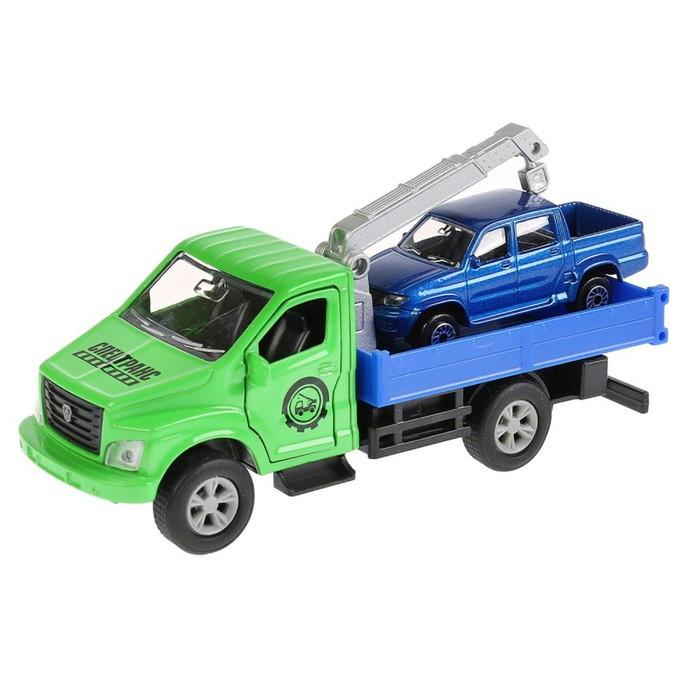 Машина металлическая «Газ Газон Next эвакуатор» 14,5 см и «УАЗ Пикап» 7,5 см