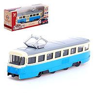 Трамвай металлический «Город», инерционный, МИКС