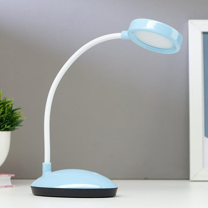 Лампа настольная 16105/1 LED 2Вт USB АКБ 3 режима синий 6,5х11х32,5 см