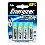 Элемент питания LR6 AA Energizer MAXIMUM  Alkaline 4 штуки в блистере, фото 2