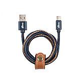 Кабель Ritmix RCC-437 Type-C-USB 2.0 A Jeans, фото 2