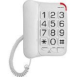 Телефон проводной Texet TX-201 белый, фото 2