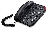 Телефон проводной Texet TX-214 черный, фото 2