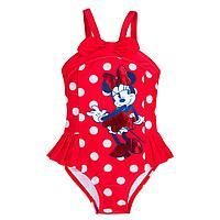 """Слитный купальник для девочек """"Минни Маус"""" красный, фото 1"""
