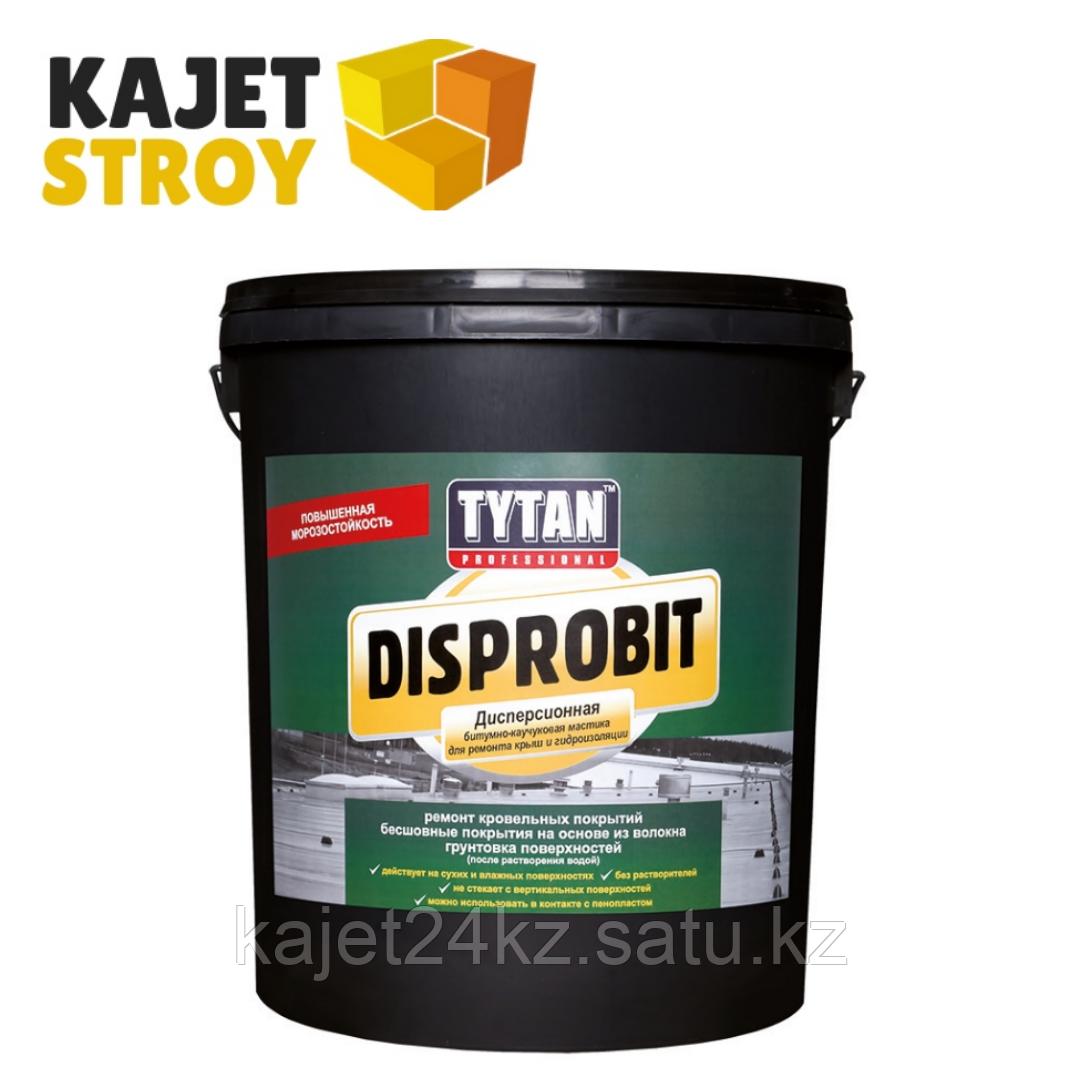 TYTAN DISPROBIT мастика дисперсионная битумно-каучуковая для ремонта крыш и гидроизоляции 20кг