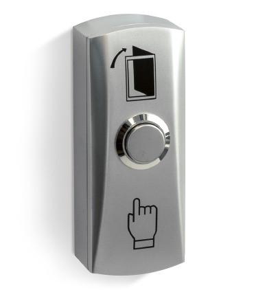 Кнопка выхода металлическая накладная