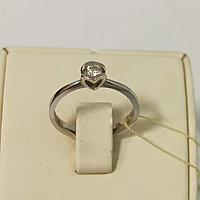Золотое кольцо с бриллиантом / 17 размер