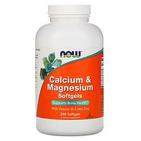 БАД Кальций и магний, с витамином D-3 и цинком (240 капсул)