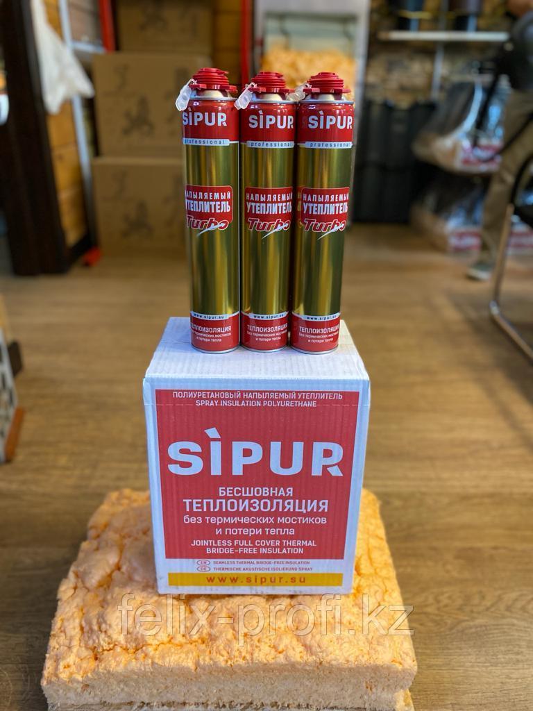 SIPUR бесшовный напыляемый утеплитель, без термических мостиков и потери тепла