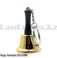 Брелок колокольчик золотистый 6,7 см
