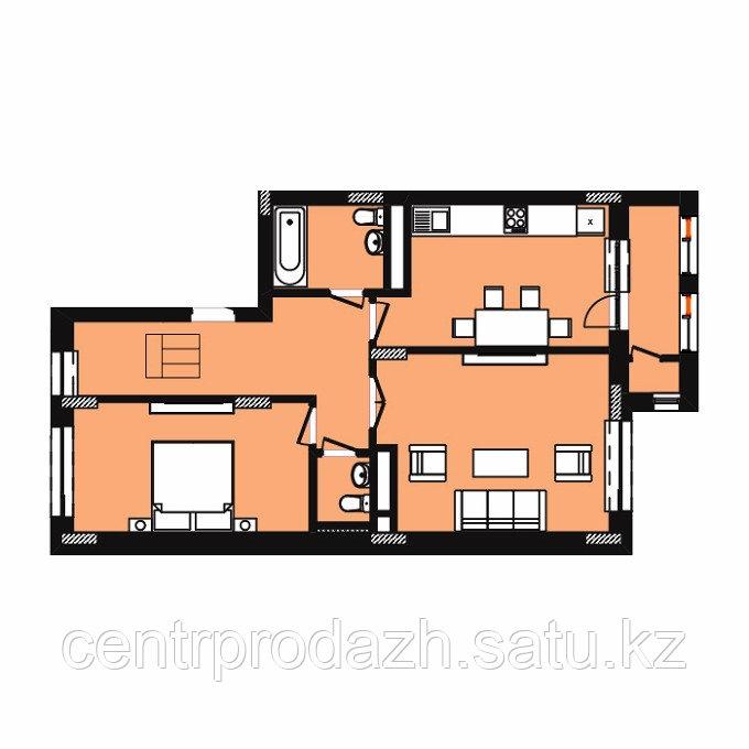 2 комнатная квартира в ЖК Expo New Life 2 63.36 м²