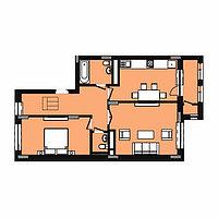 2 комнатная квартира в ЖК Expo New Life 2 63.36 м², фото 1