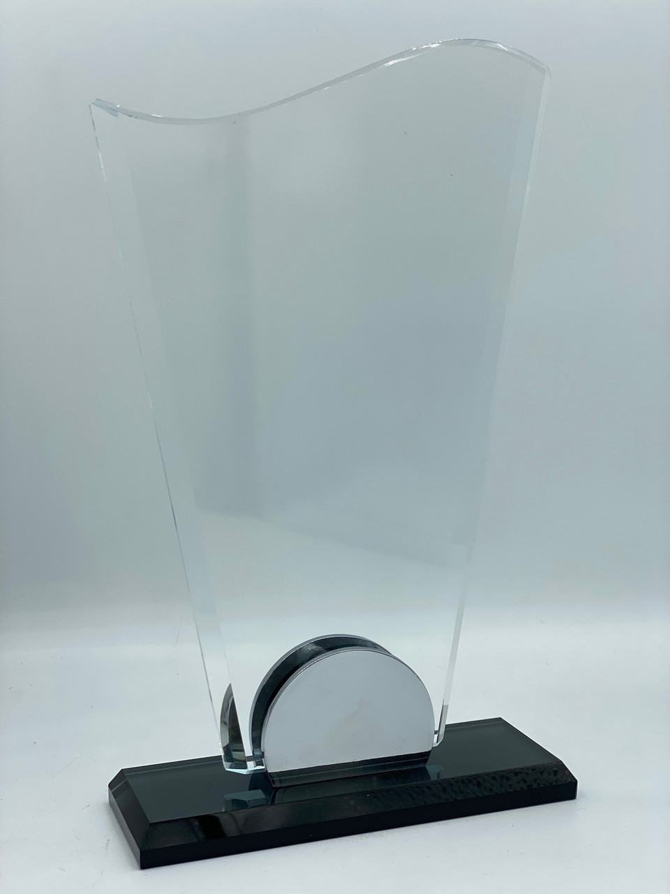 """Награда стеклянная, прозрачная (h 20см) """"Вымпел"""""""