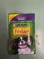 Friskies с Говядиной и ягненком в подливе Влажный корм для собак, 85г, фото 1