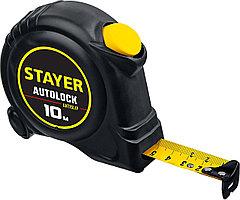 Рулетка Stayer 10 метров, AutoLock, 10м х 25мм