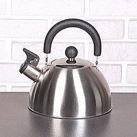 """Чайник со свистком 2 л """"Торенто. Блеск"""", цвет серебристый, фото 1"""