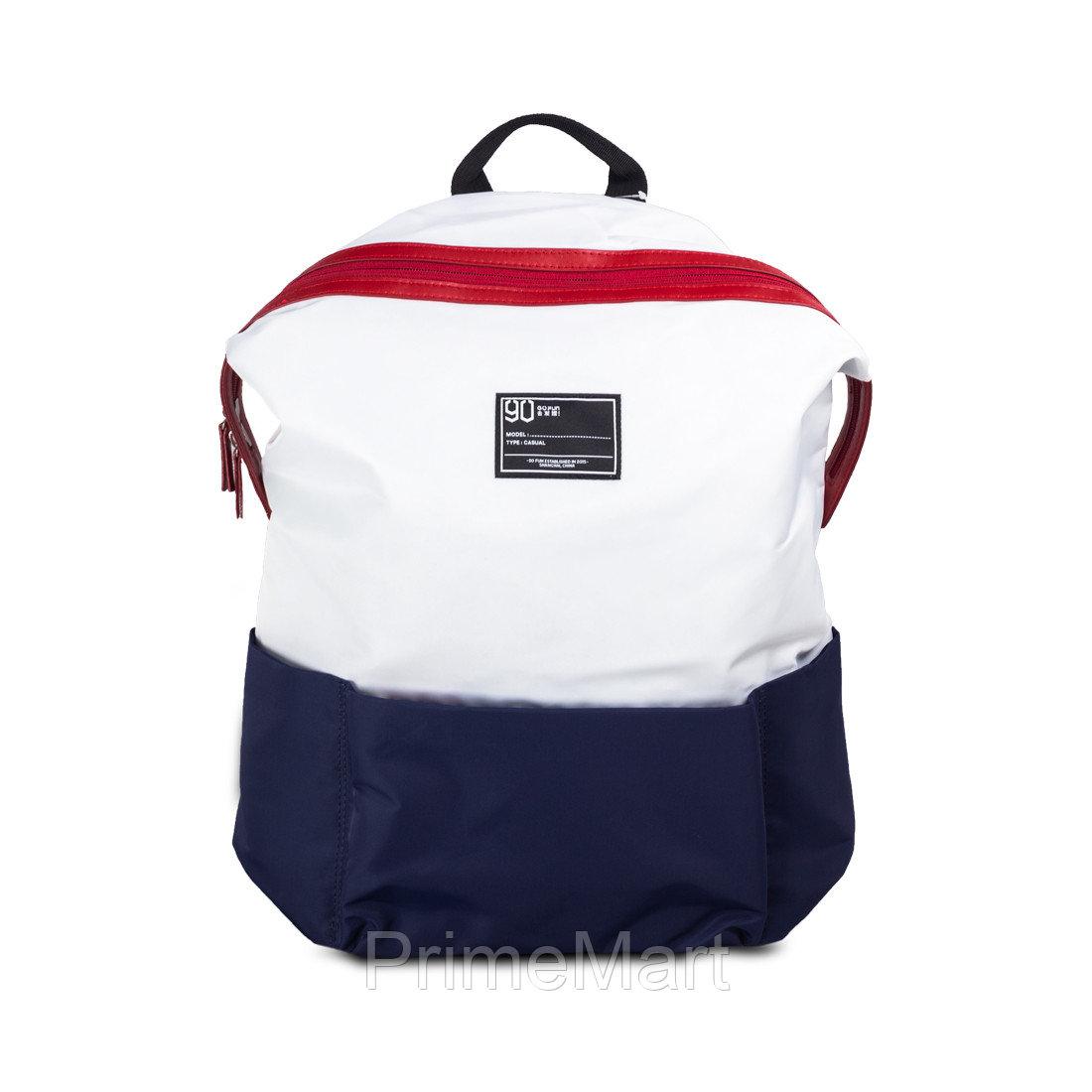 Xiaomi, Рюкзак, Водозащищенная, Нейлон, 90 Points Lecturer Leisure Backpack, Бело-Синий