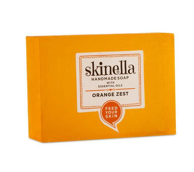 Мыло ручной работы с апельсиновой цедрой , 100 гр, Skinella,
