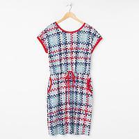 Платье женское, цвет красный, размер 66