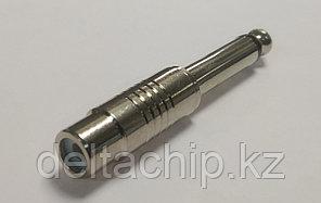 Разъем переходной:SZC-0142/6,35 mono-RCA jack