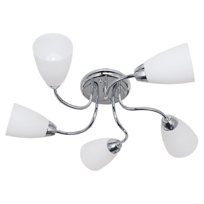 Люстра «Агалия», на 5 ламп по 60 Вт, E14, хром 56 × 56 × 16 см