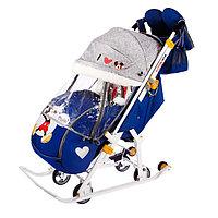Санки коляска «Disney-baby 2. Микки Маус», цвет тёмно-синий, фото 1