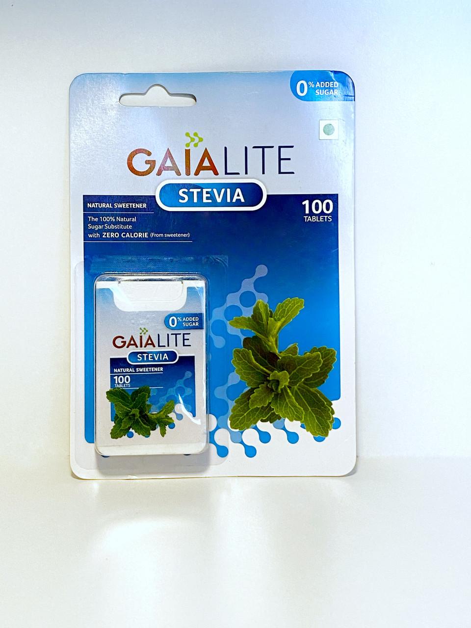 Заменитель сахара Gaia Stevia, 100 таблеток