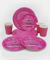 """Посуда для праздника """"Princess"""""""