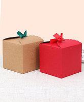 """Подарочная коробка, бонбоньерка """"Куб"""" с лентой"""