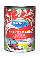 Эмаль НЦ-132 КП С красная 1.7 кг