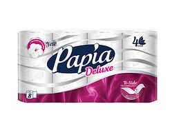 "Туалетная бумага рулонная Papia ""Deluxe"", 16,1 метров, 4-х слойная, 8 рулонов"