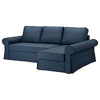 Диван-кровать с козеткой БАККАБРУ Идекулла синий ИКЕА, IKEA, фото 1