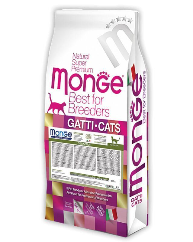 Сухой корм для кошек Monge Sensitive (Монже)