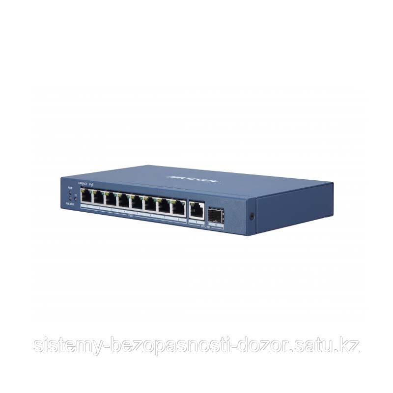 10-портовый коммутатор Hikvision DS-3E0510P-E/M