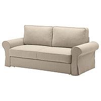 Диван-кровать 3-мест. БАККАБРУ Идекулла бежевый ИКЕА, IKEA, фото 1