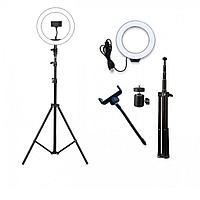 Кольцевая лампа напольная на штативе для фото и видео съемки Live Light F-360, фото 1
