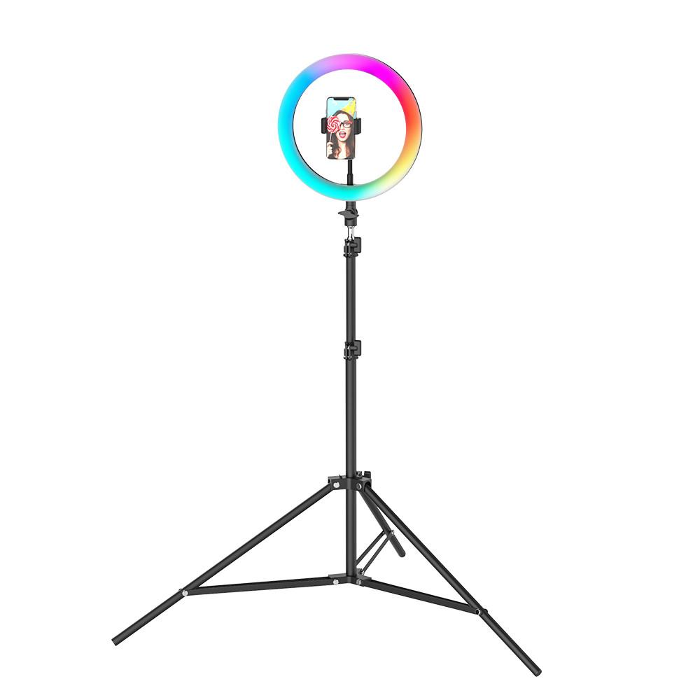 Кольцевая светодиодная лампа со штативом LED MJ33 (33 см) со штативом 2м