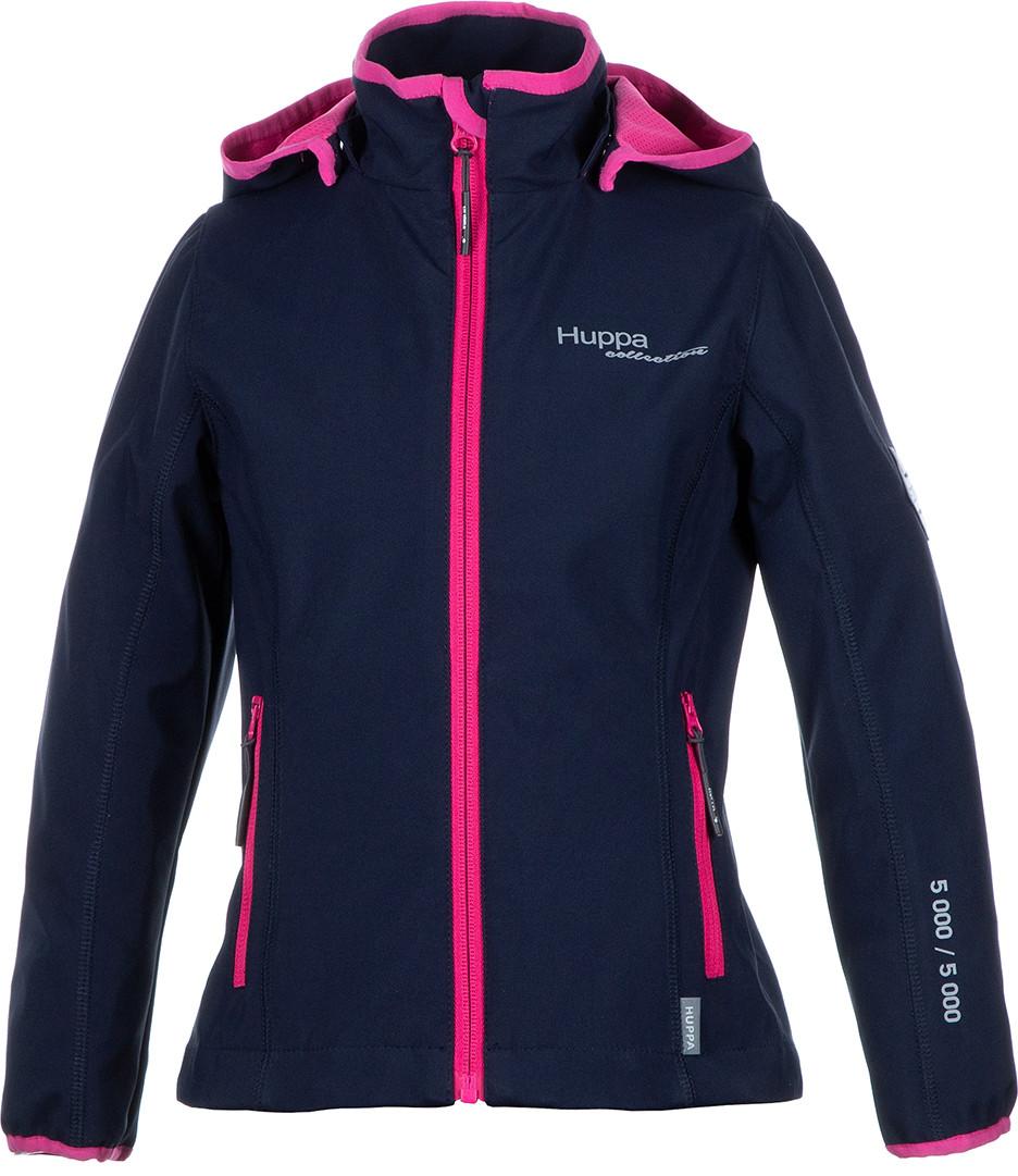 Куртка Huppa Softshell для девочек JANET, тёмно-синий/фуксиа